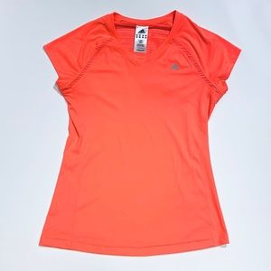 Adidas Neon Coral Climalite Top